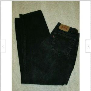 Vintage Black Levis 554 Mens Size 33X34 Red Tab US